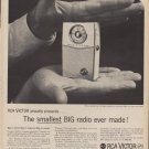 "1960 RCA Victor Radio ""Smallest Big Radio"" Ad"