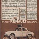 """1960 Renault Dauphine """"Driving Fun Again"""" Ad"""