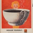 "1960 Sanka Coffee ""Indulge Yourself"" Ad"