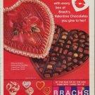 "1967 BRACH'S CANDY Ad ""VALENTINE CHOCOLATES"""