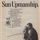 """1967 GILLETTE SUN UP AFTER SHAVE Ad """"SUN UPMANSHIP."""""""