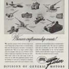 """1942 Fisher Division of General Motors Ad """"Wherever craftsmanship counts!"""""""