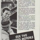 "1942 United Motors Ad ""Take Good Care of Your Car"""