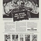 """1942 RCA Victor Ad """"Mr. Hitler, Take a Look at This!"""""""
