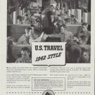 "1942 American Railroads Ad ""U.S. Travel 1942 Style"""