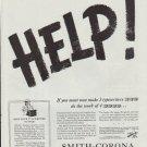 "1942 Smith-Corona Ad ""HELP!"""