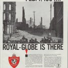 "1961 Royal-Globe Insurance Companies Ad ""FEB. 7, 1904 ... Royal-Globe is there"""