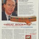"""1961 Encylopaedia Britannica Ad """"achieve conviction and a point of view"""""""