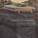 """1961 Plymouth Ad """"Plymouth is what solid means."""""""