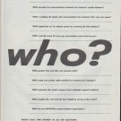 """1961 Bell Telephone Ad """"who?"""""""