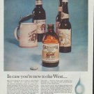 """1961 Olympia Beer Ad """"In case you're new to the West ..."""""""