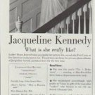 "1961 Ladies' Home Journal Ad ""Jacqueline Kennedy"""