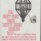 "1961 Scotch Brand Ad ""For Paint-Free Panes ...""Scotch Brand Masking Tape!"""