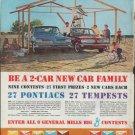 """1961 Pontiac and Tempest Ad """"Be a 2-car new car family"""""""