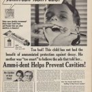 """1950 Amm-i-dent Tooth Paste Ad """"Why Didn't Your Mother Give You Amm-i-dent?"""""""