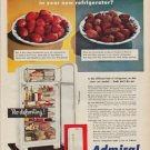 "1950 Admiral Ad ""Will fresh berries stay fresh in your new refrigerator?"""