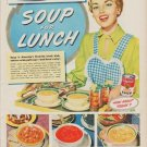 "1950 Campbell's Ad ""Cool Summer Meals Call For One Hot Dish ... Soup For Lunch"""