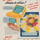 """1950 Kraft Ad """"At Last ... the perfect way to buy cheese-in-slices!"""""""