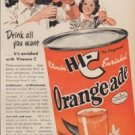 "1950 HI-C Orange-ade Ad ""Fresh Orange Tang makes you Glad you're Thirsty!"""