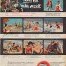 """1950 Kodak Ad """"Bring back the happy days in movies you make yourself"""""""