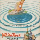 """1950 White Rock Ad """"For over half a century -- America's Finest Beverages"""""""