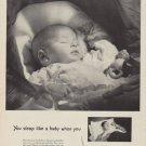 "1950 Pullman Ad ""You sleep like a baby when you Go Pullman"""