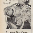 "1950 FTD Florists Ad ""All Over The World -- Say it with Flowers-By-Wire"""