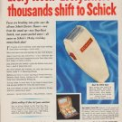 "1949 Schick Ad ""Every Week - Everywhere - thousands shift to Schick"""