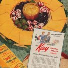 """1949 Kay Brand Ad """"Natural Cheddar Cheese"""""""