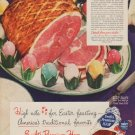 "1949 Swift's Premium Ham Ad ""High note for Easter feasting"""