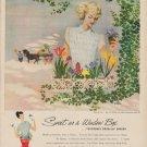 "1949 Textron Ad ""Sweet as a Window Box"""