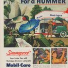"1949 Mobiloil Ad ""For a Hummer of a Summer!"""