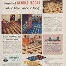 """1949 Kentile Floors Ad """"cost so little ... wear so long!"""""""