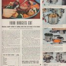 "1949 Lifetime Stainless Steel Ad ""Food Budgets Cut"""