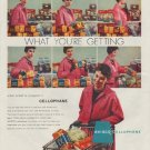 """1958 Avisco Cellophane Ad """"You See Exactly What You're Getting"""""""