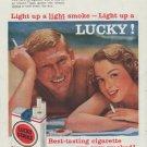 "1958 Lucky Strike Ad ""Light up a Lucky!"""
