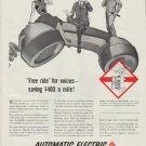 "1958 Automatic Electric Ad ""Free ride"""