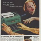 "1958 Underwood typewriter Ad ""Golden-Touch Standard"""