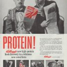 """1958 Kellogg's Cereal Ad """"Protein!"""""""