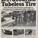 "1952 B.F. Goodrich Ad ""Tubeless Tire"""
