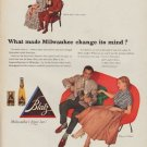 "1952 Blatz Beer Ad ""What made Milwaukee change its mind?"""