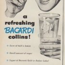 "1952 Bacardi Ad ""in one minute"""