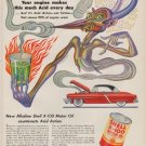 "1952 Shell Oil Ad ""Acid every day"""