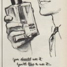 "1952 Aqua Velva Ad ""A luxury that actually does you good"""