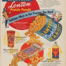 "1955 Planters Peanuts Ad ""Lenten Protein Parade"""