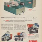 "1955 argus Ad ""Makes your color slides come to life"""