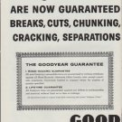 "1961 Goodyear Ad ""Guaranteed Against Blowouts"""