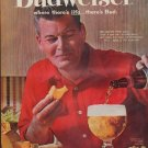 """1961 Budweiser Ad """"where there's life ... there's Bud"""""""