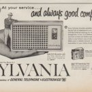 "1961 Sylvania Ad ""At your service ..."""