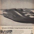 "1961 Champion Spark Plugs Ad ""Spark your car"""